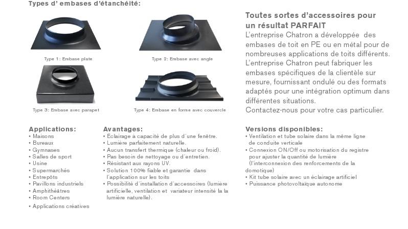 conduits de lumi re 2 cos solar. Black Bedroom Furniture Sets. Home Design Ideas